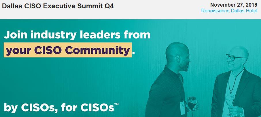Evanta Dallas CISO Executive Summit Q4