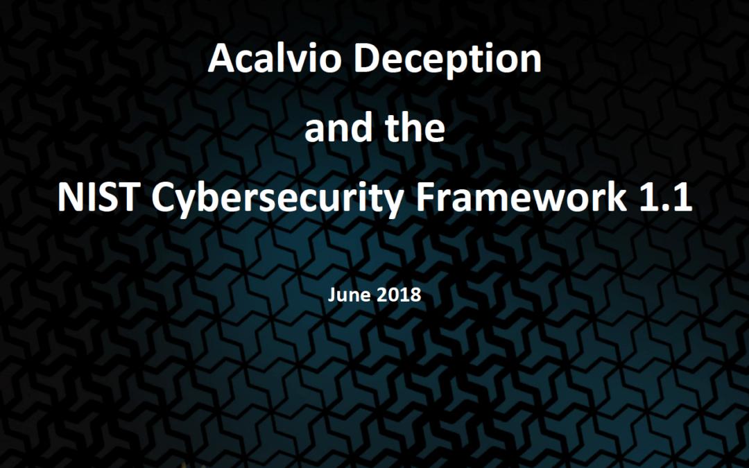 Acalvio Deception and the NIST Framework