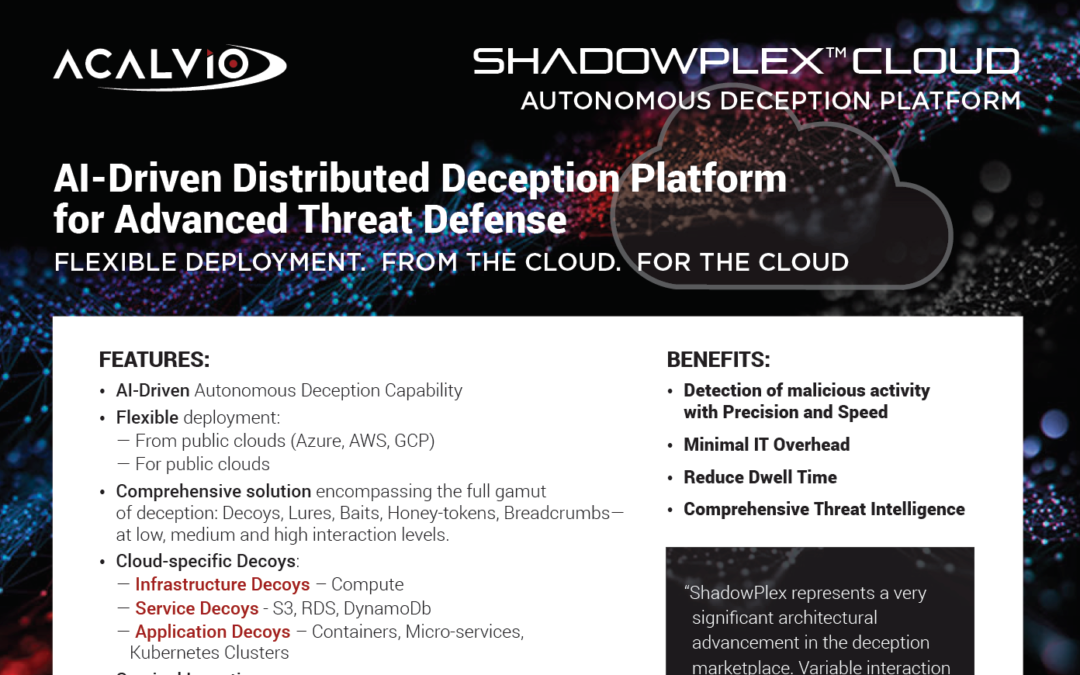 ShadowPlex Cloud – Datasheet