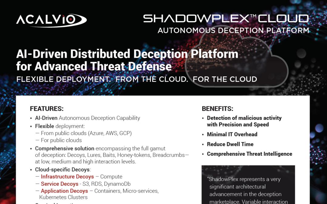 ShadowPlex Cloud – Datasheet