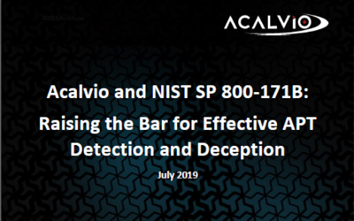 Acalvio and NIST SP 800-171B