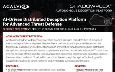 Acalvio ShadowPlex Overview – Datasheet