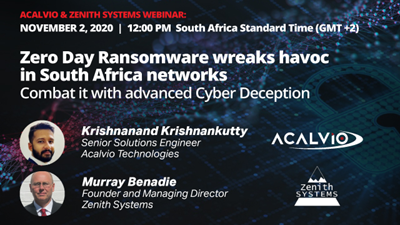 Zero Day Ransomware wreaks havoc in SA networks: Combat it with Deception