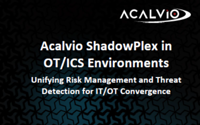Acalvio ShadowPlex in OT/ICS Environments