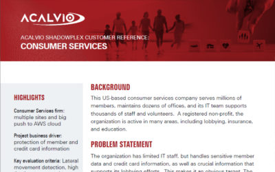 Acalvio Customer Reference Consumer Services
