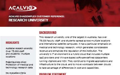 Acalvio ShadowPlex Customer Reference Research University