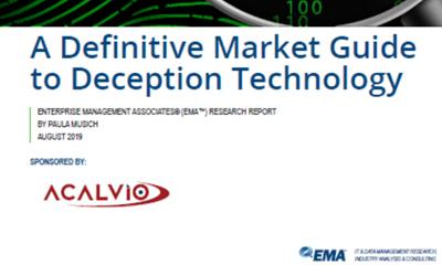 EMA Report – A Definitve Market Guide to Deception Technology